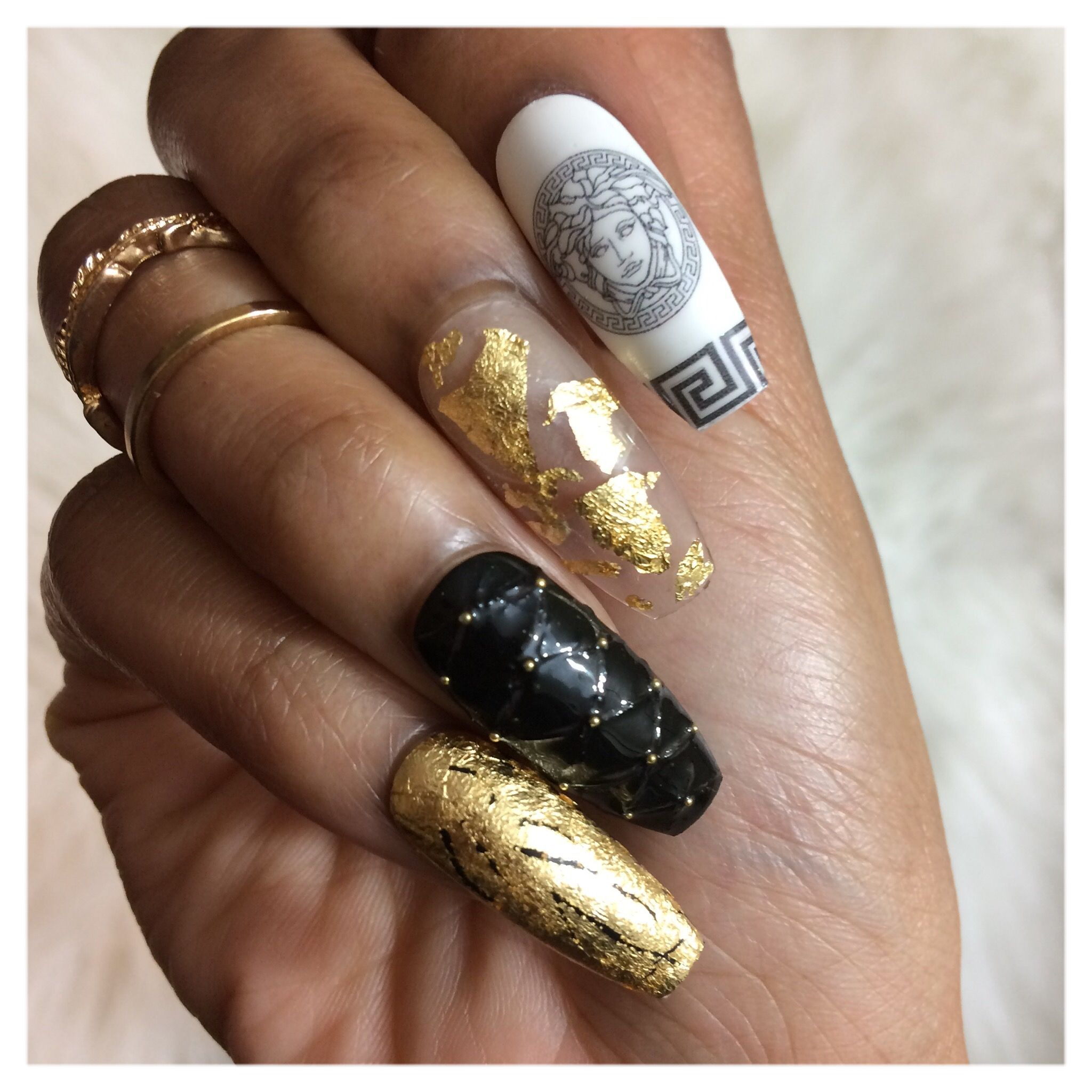 Versace Inspired Press On Nails Unghii
