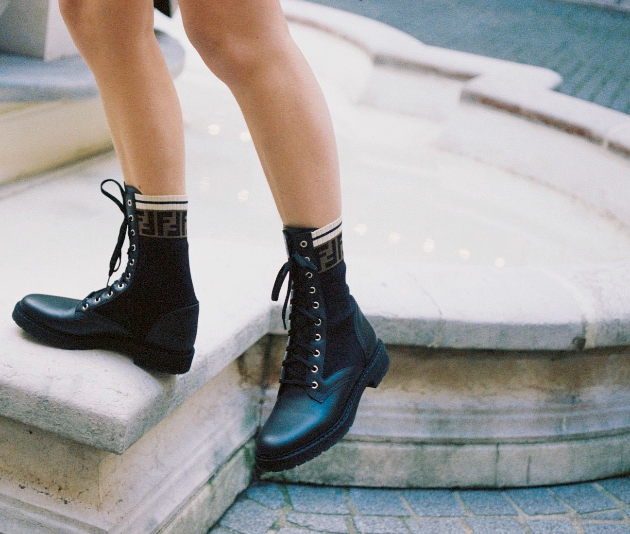 Boots, Fendi boots, Combat boot outfits