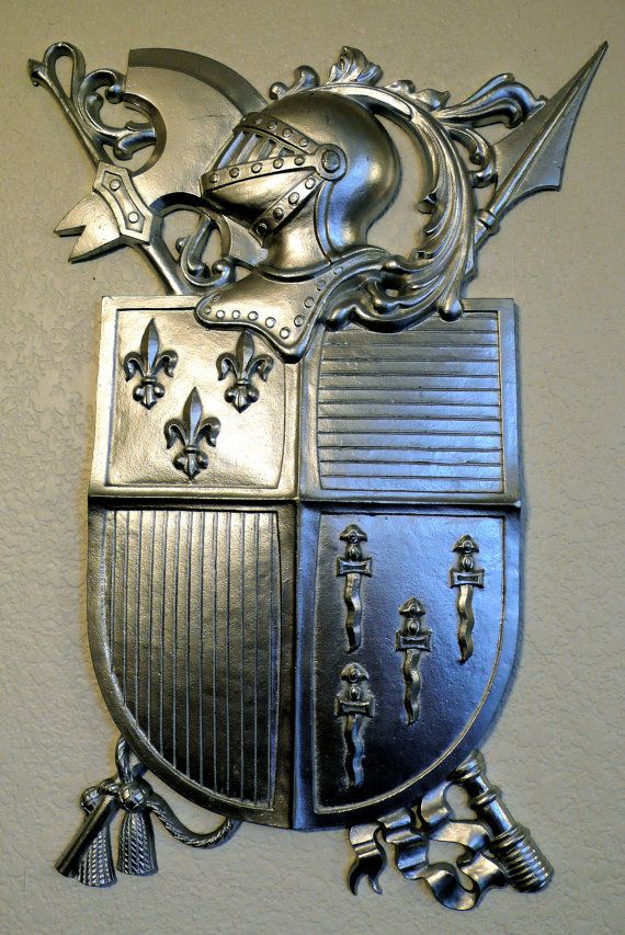 Vintage Medieval Knights Coat Of Arms Wall Decor Old World Tuscan