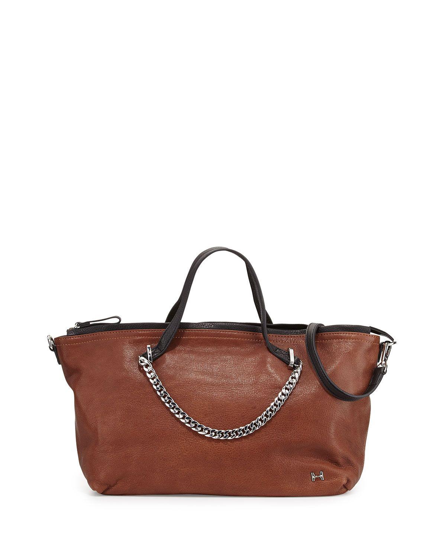 Missoni Two-Tone Leather Satchel Bag, Caramel, Women's