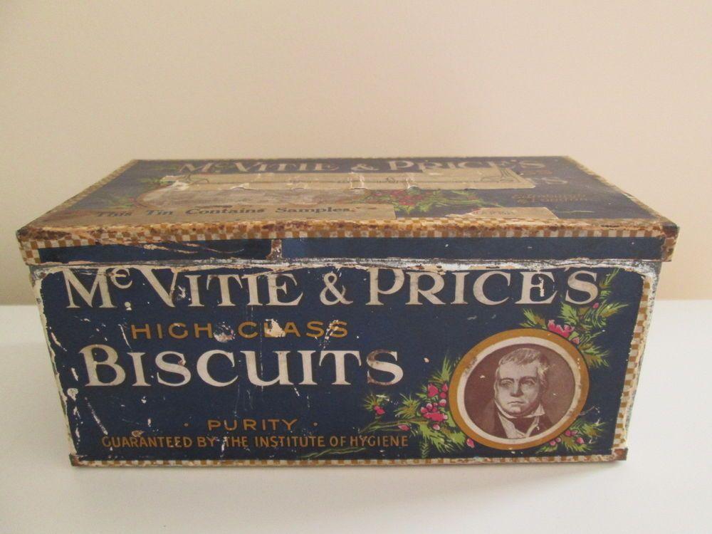 Vintage McVitie and Price Shortbread Tin