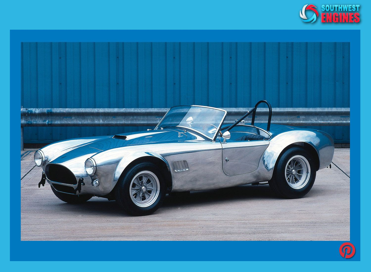 Check this adorable white and bluegreen AC Cobra.