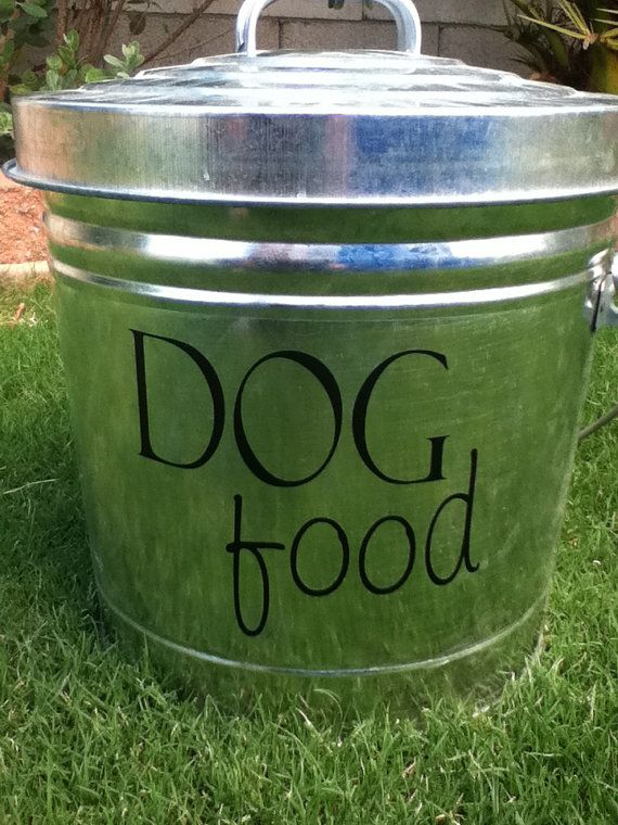 Dog Food Decal For Your Pet Food Container By Circlelinestudio