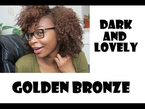 Dying Natural Hair With Dark And Lovely Golden Bronze || MelfaceMish - YouTube