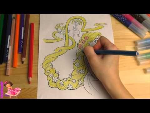 Раскраска Принцесса Рапунцель - Rapunzel | Разукрашка Для ...