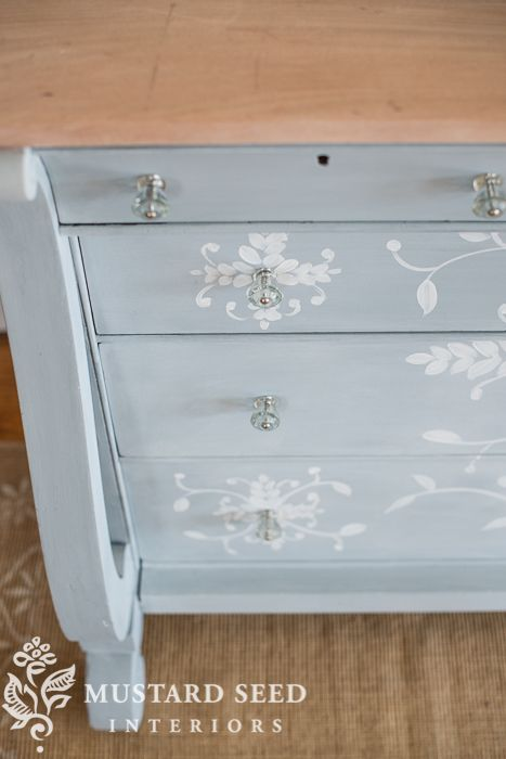 hand painted buffet | miss mustard seed
