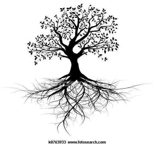 black tree with roots Tree tattoo ideas Pinterest Black tree