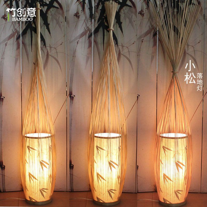 Komatsu modern new chinese hotel spa leisure space creative komatsu modern new chinese hotel spa leisure space creative decorative floor lamp bamboo lamp lighting teahouse restaurant in floor lamps from lights mozeypictures Images