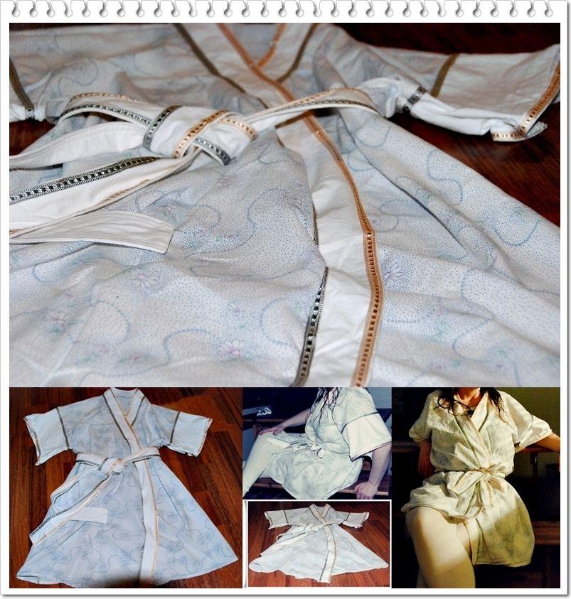 VillaNanna: Lakanasta kivaa (Simple jacket/dress out of an old sheet)