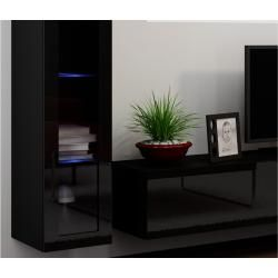 Stylefy set Vago V wall unit extension wall black and white  – Products