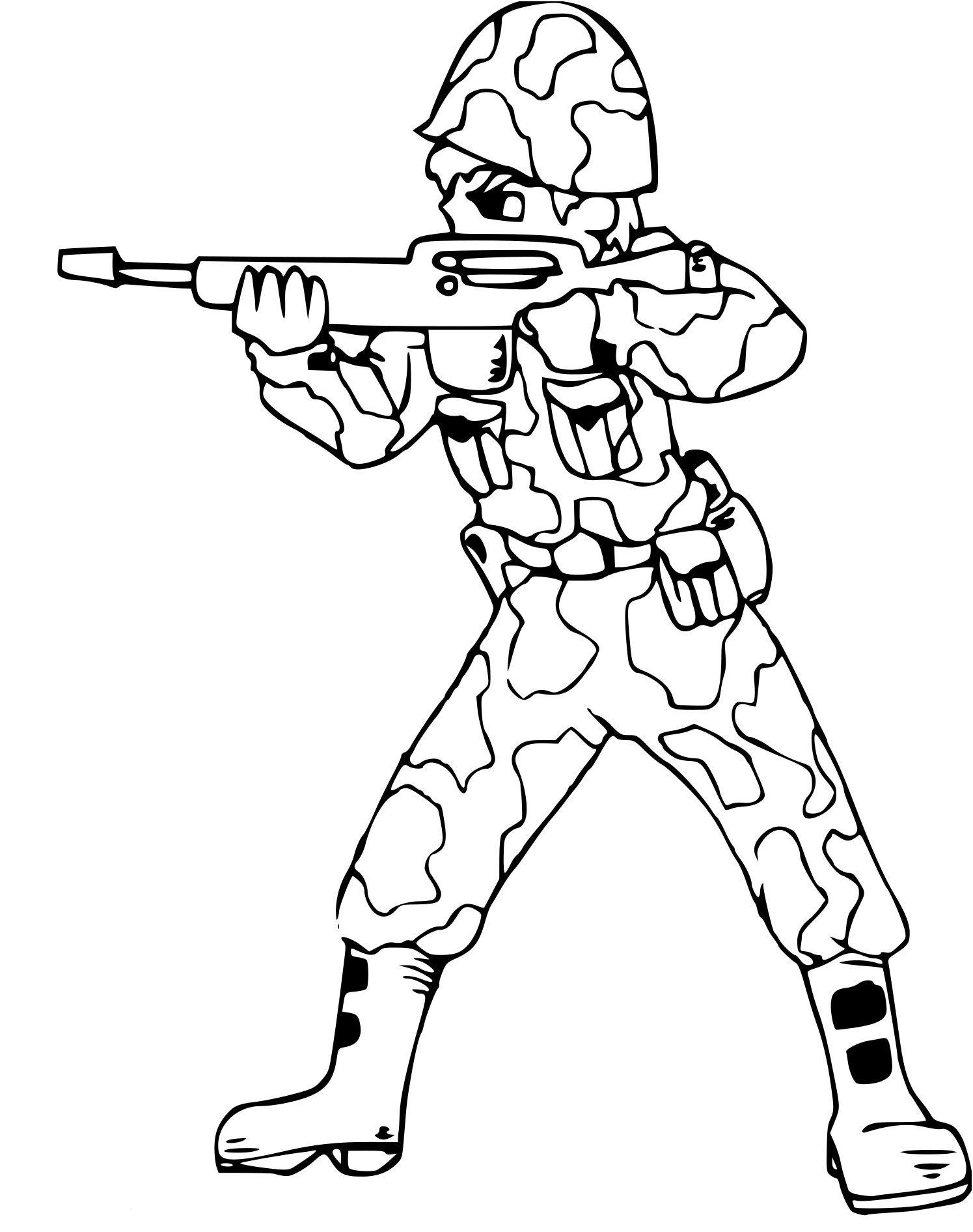 14 Aimable Coloriage Militaire soldat Stock en 2020   Coloriage, Coloriage en ligne gratuit ...