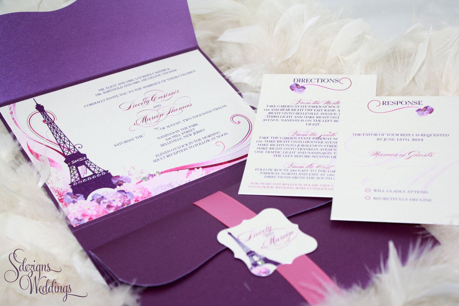 Gorgeous Paris Wedding Invitations | Cumpleaños | Pinterest ...