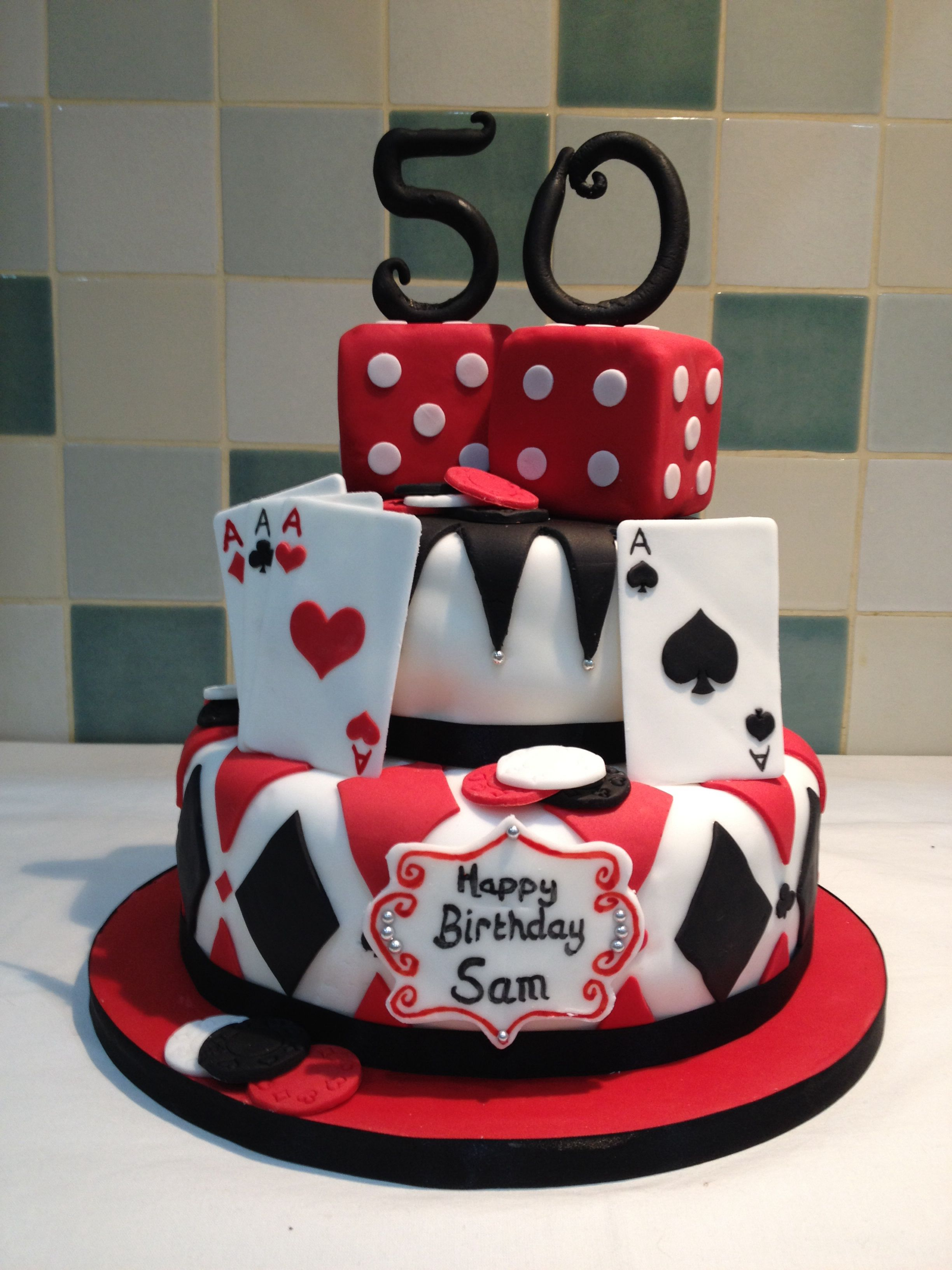 Casino Theme Birthday Cake Casino Cakes Themed Cakes