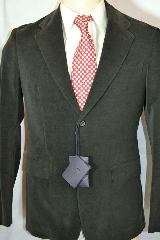 dcdca8d2926f5 Prada Herren Anzug Sakko Hose Mens Suit TRAJE 50 M L NEU 1575 NEW Feinkord