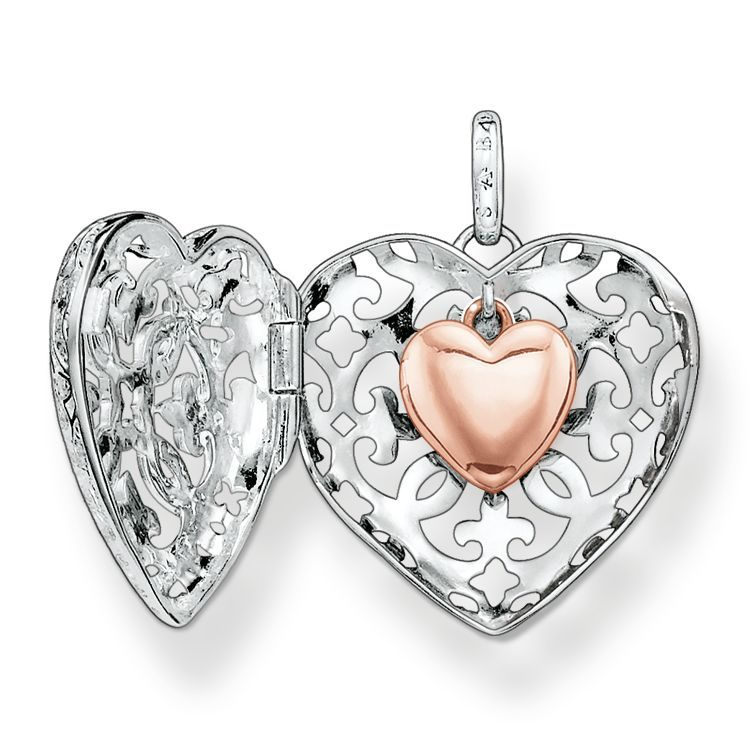 Jewelry Stores Network Sterling Silver Gold Plating Heart Locket