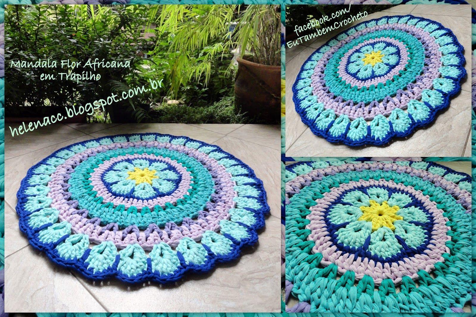Um blog de crochet em fio de malha, trapilhos | 아프간 담요―モチーフ ...
