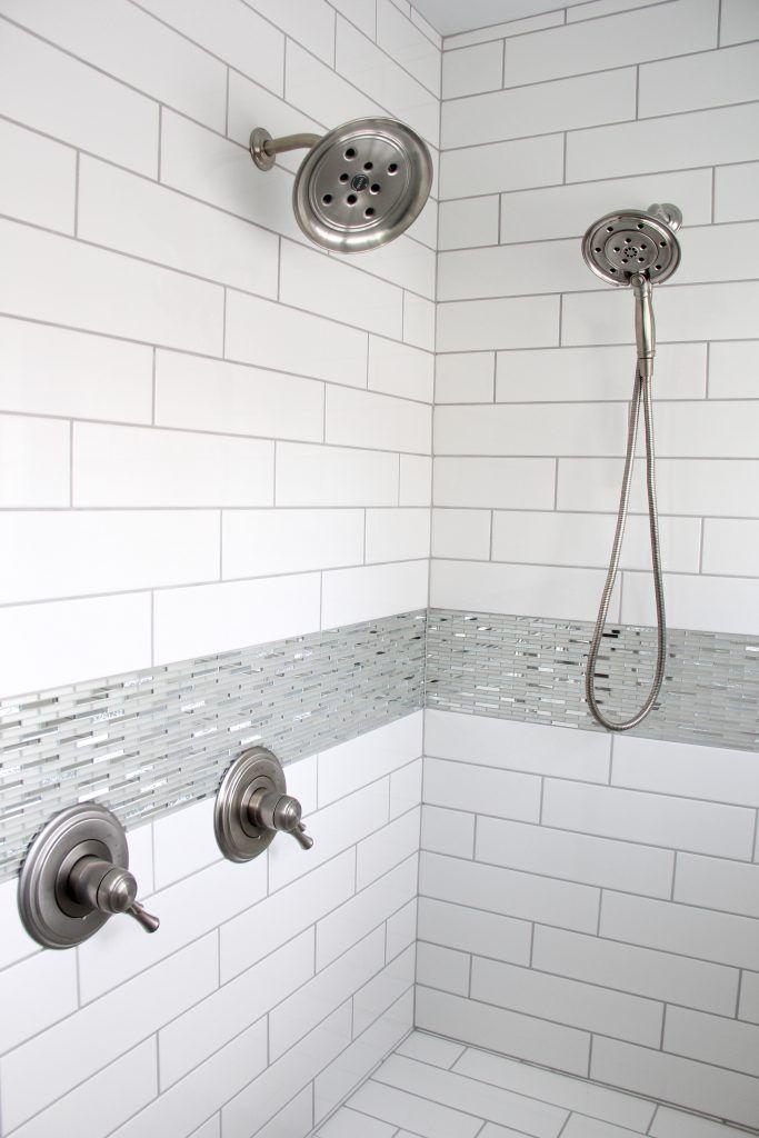 Tiled Shower Walls Angora Soho White 4x16 Shower Accent
