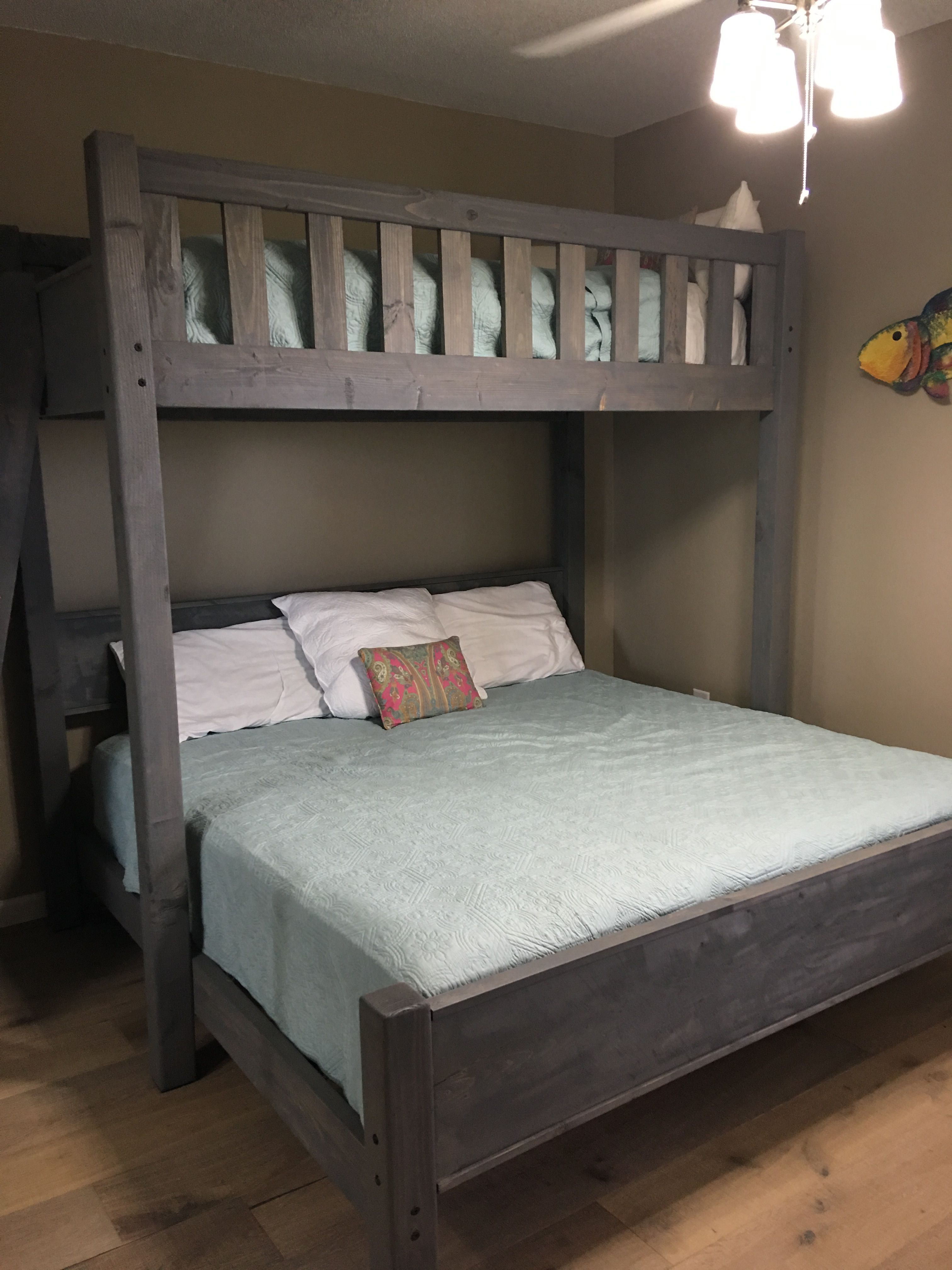 Custom bunk bed in twin over king or twin over queen. At