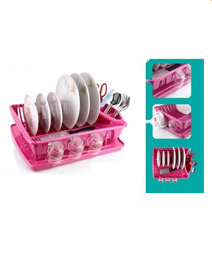 Extra Large Plastic Dish Drainer Plate And Cutlery Rack Kitchen