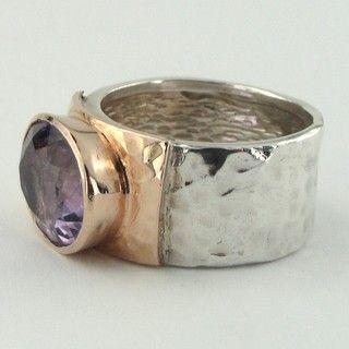 Large stone silver ring Statement women ring Rustic silver women ring Bohemian women ring Unique large stone ring Prehnite silver ring
