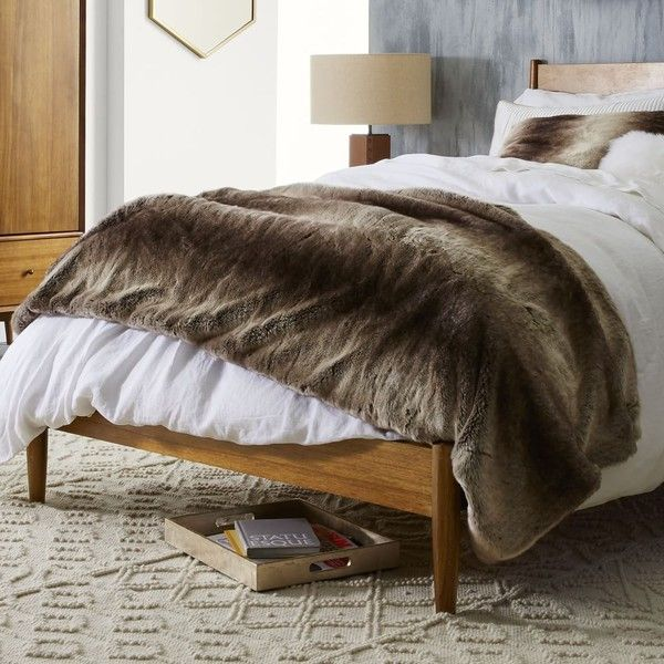 West Elm Throw Blanket Extraordinary West Elm Faux Fur Ombre Oversized Throw  Mocha $179 ❤ Liked On Decorating Design