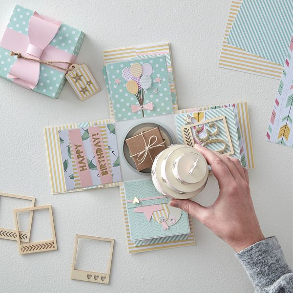 ideas  hobbycraft blog  exploding box card diy