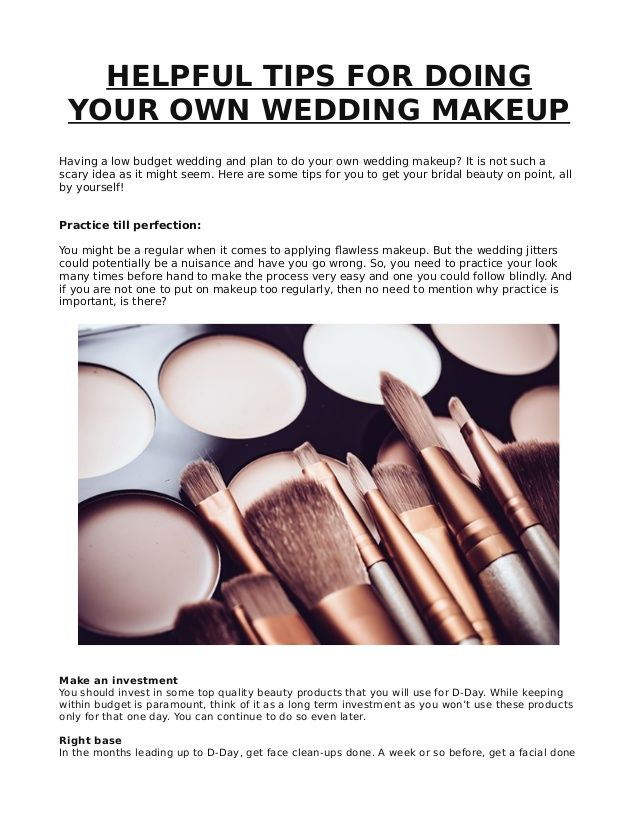 Find out few helpful tips for your own makeup at home ...