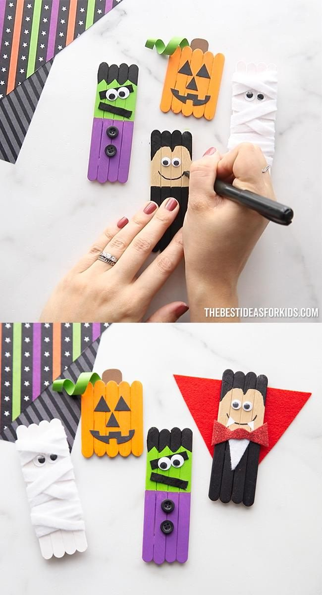 Photo of Halloween Popsicle Stick Crafts