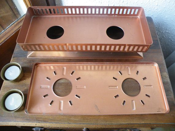 French Copper Plate / Food Warmer With Internal by FrenchAntiquity