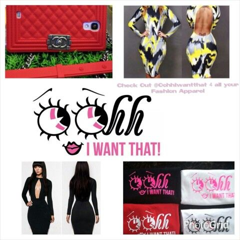 For all your Fashion needs check out  @oohhiwantthat