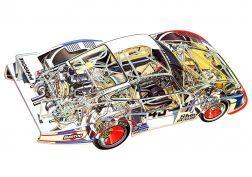 1978 Porsche 935-78 Moby Dick corrida de corridas 935 motor interior v papel de parede