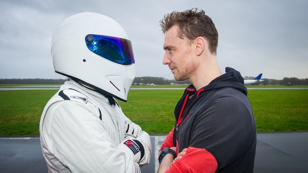 Tom Hiddleston and The Stig on Top Gear