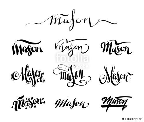Image Result For Mason Name Tattoo Designs Tattoo Designs Name Tattoo Designs Mason Name