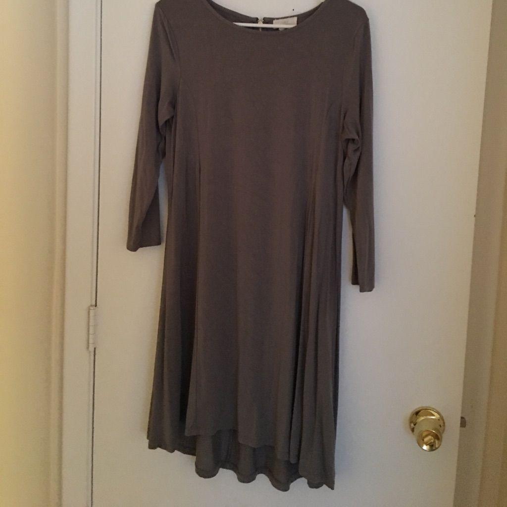 Gray Trapeze Dress