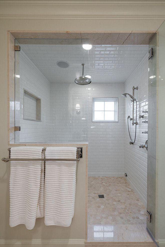 Beveled Shower Tile Combination Ideas With Octogan Floor Tiles Beveledshowertile