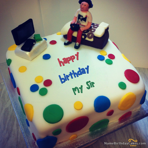 The Name My Sir Is Generated On Birthday Cake For Boys With Name