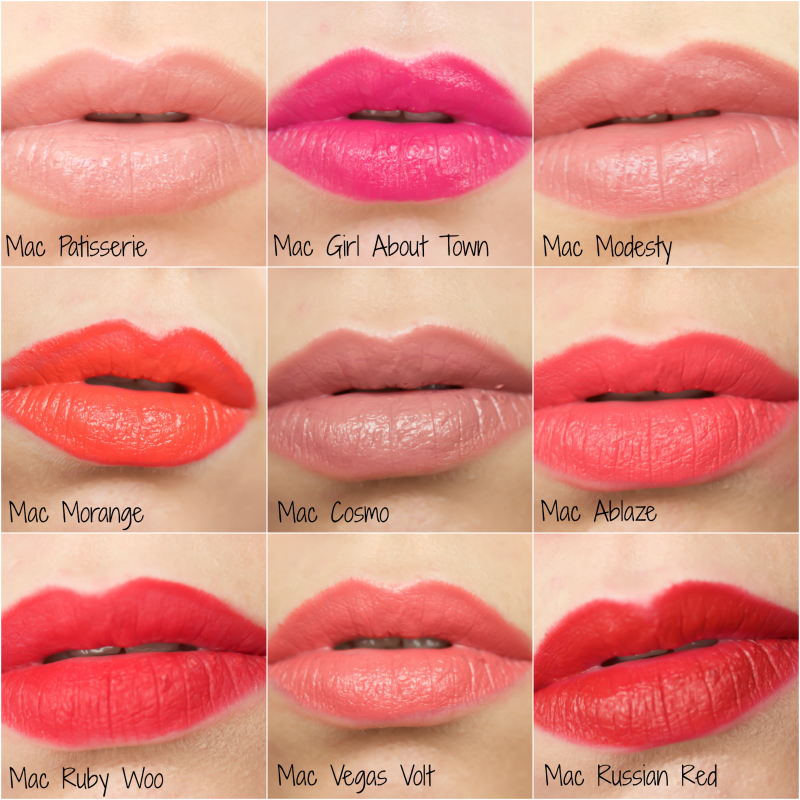 Mac Lipstick Collection And Swatches Your Beauty Mac Lipstick Shades Coral Lipstick Mac Lipstick Collection
