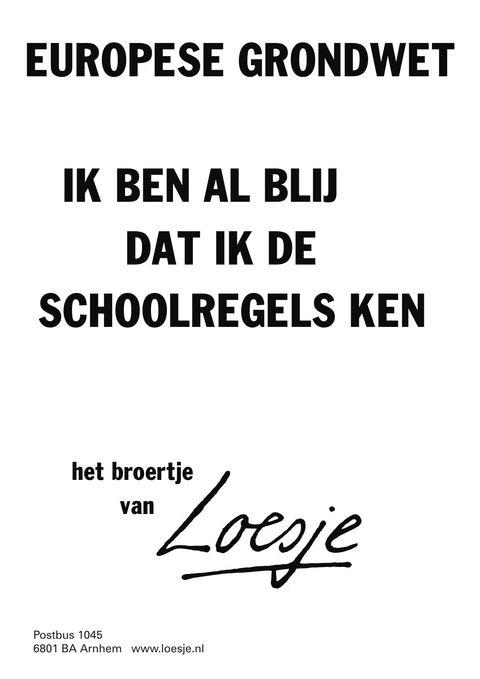 Grappige Citaten Lente : Europese grondwet ik ben al blij dat de schoolregels