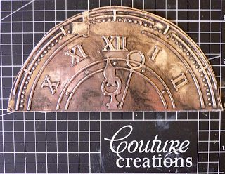 Making a clock face - Couture Creations: Moment to Remember by Adriana Bolzon