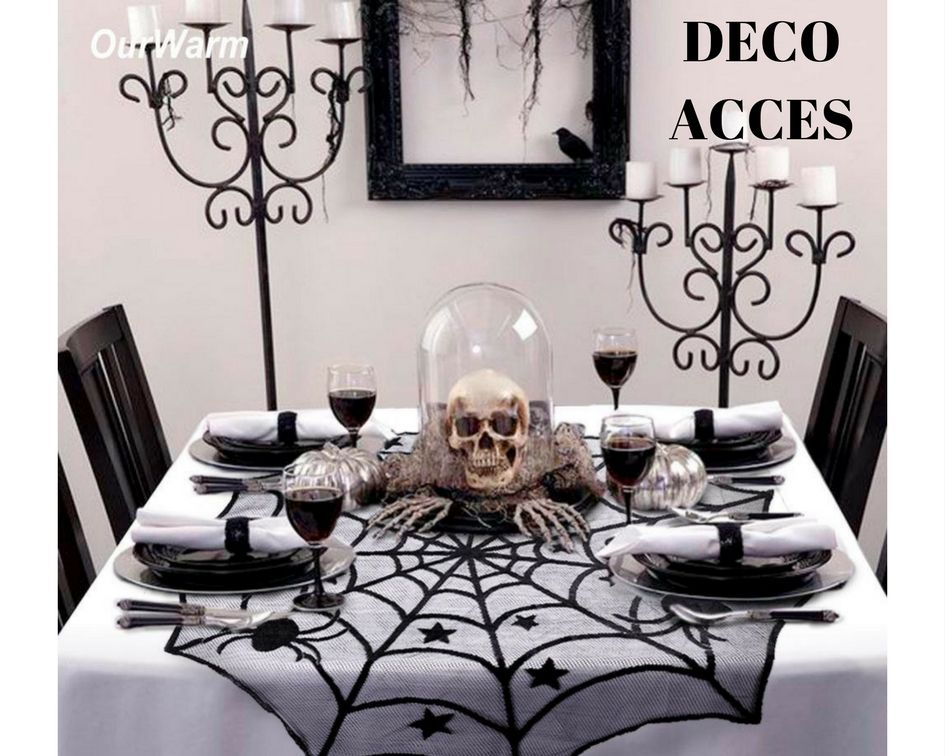 Halloween Party Decoration Spiderweb Table Cloth Decoration, Table - halloween party decorations diy