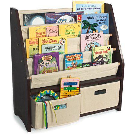 Buy WonkaWoo Little Bookworm Espresso Sling Bookshelf At Walmart