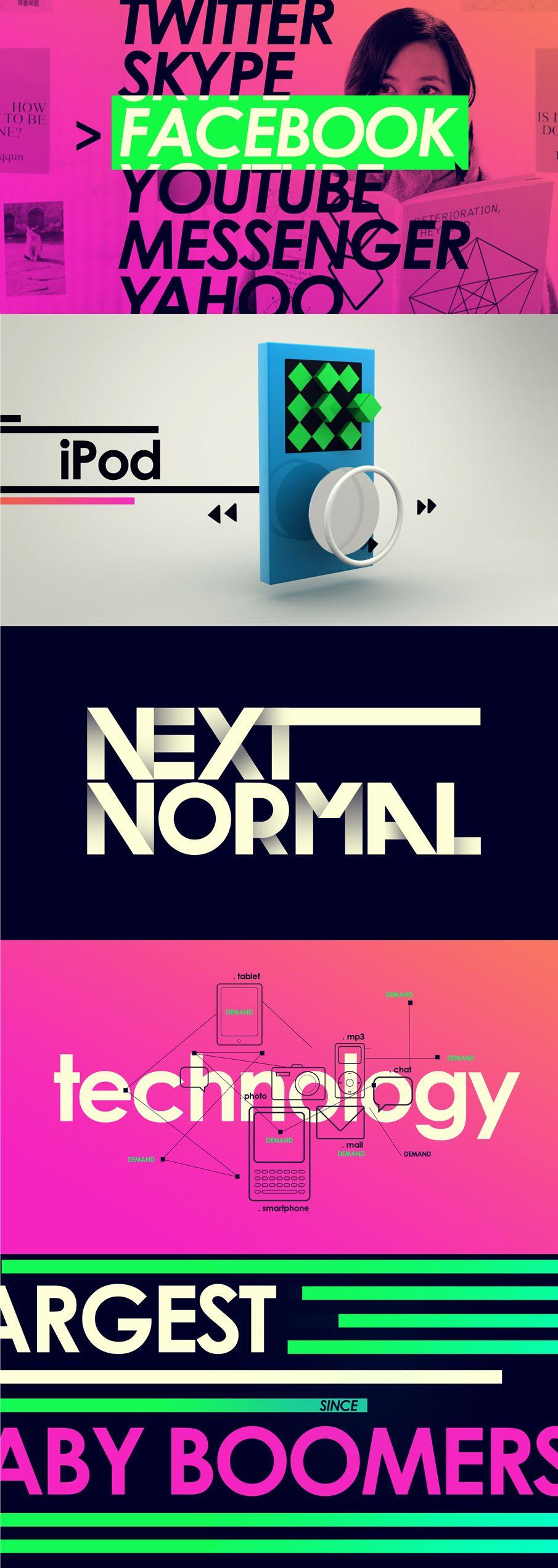 Bright Color / Hip / Type /// Viacom Next Normal - Carla Dasso