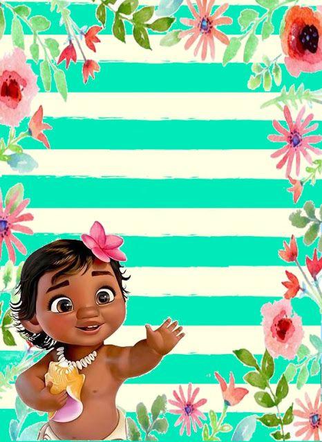 Decorando Minha Festa Convite Moana Baby Party Invitations Birthday