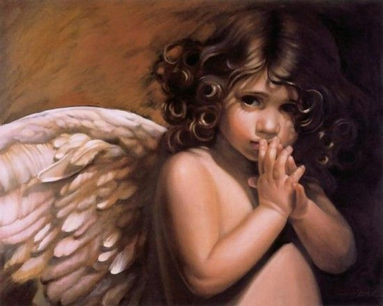 Dark-Haired Angel. #angel