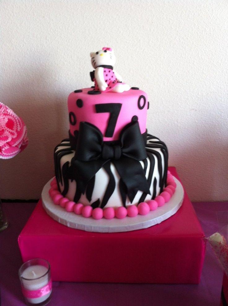Hello Kitty Zebra Cake | Hello Kitty Zebra cake