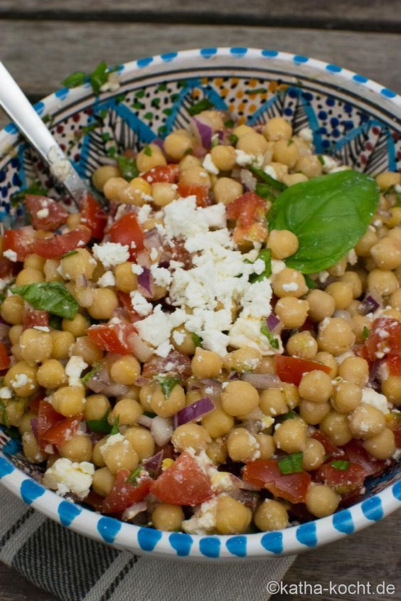 Photo of Fresh chickpea salad with sheep's cheese – Katha cooks!