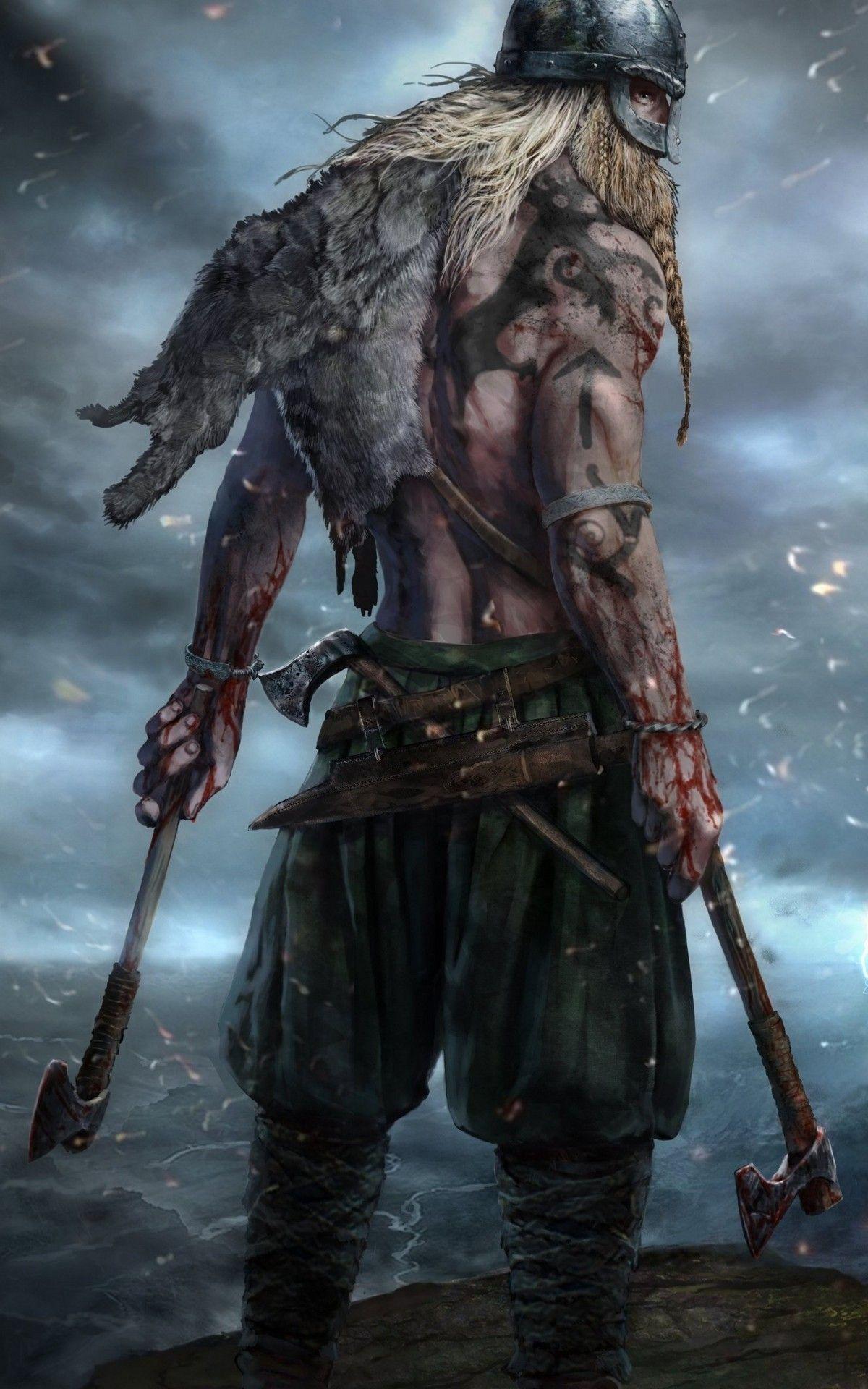 Shirtless Men Of Fantasy Barbarian Fighter Barbarian