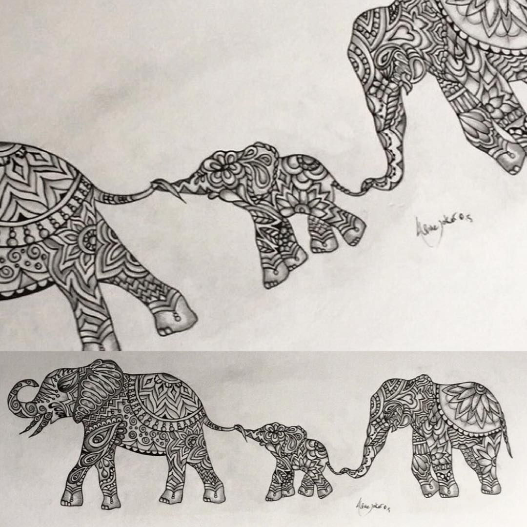 original indian elephant zentangle tattoo design by alpinejoker tattoos pinterest. Black Bedroom Furniture Sets. Home Design Ideas