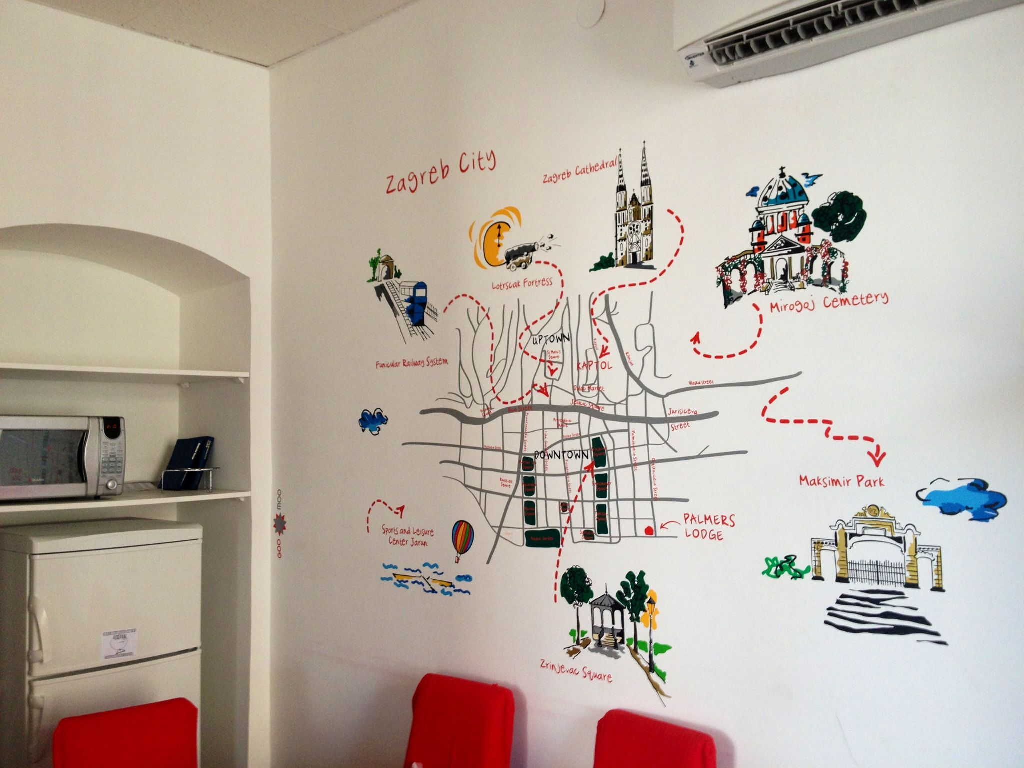 Palmers Lodge Zagreb Wall Map Palmers Lodge Zagreb Wall Map Design Best Hostel Travel City Backpackers Youth Accommodatio Wall Maps Zagreb Design
