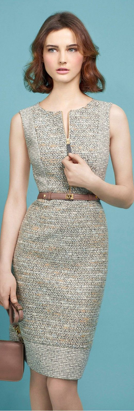 2016 women high quality suit set office ladies work wear women ol tweed midi dress outfit